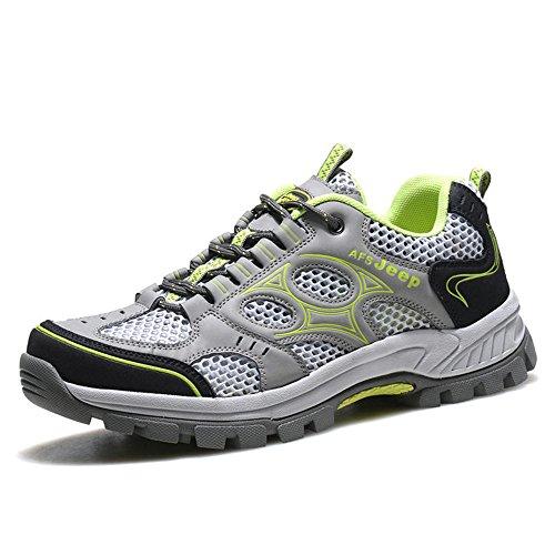 AFS JEEP 战地吉普 男装越野跑鞋夏季网面透气休闲运动鞋登山旅游鞋A9826