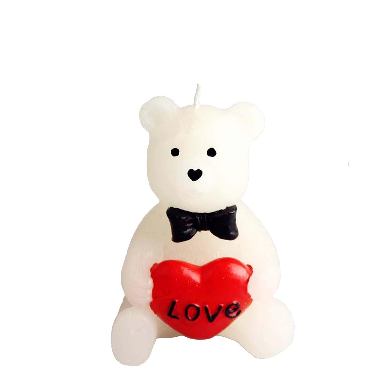 burleyhill martin 佰利山马汀 浪漫小熊love蜡烛 情人节七夕表白结婚