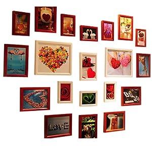 20框桃心相框墙 照片墙组合 背景墙 浪漫心形组合 时光屋 报价 228图片