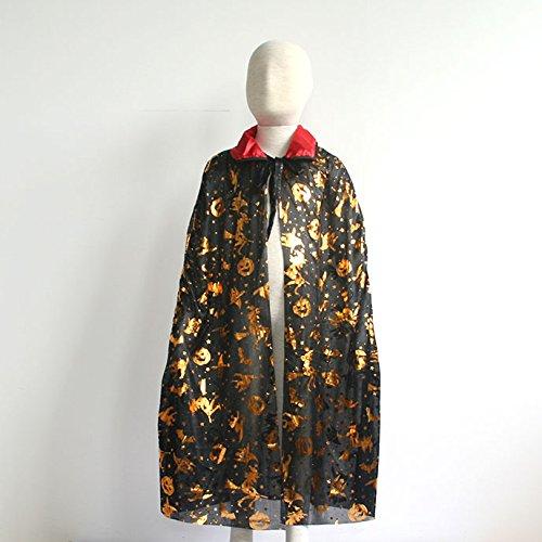 万圣节鬼节装饰服装 红黑领子 小孩披风85公分图片