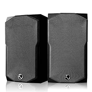 0有源4寸书架箱hifi台式电脑桌面木质音响低音炮音箱 (黑色)
