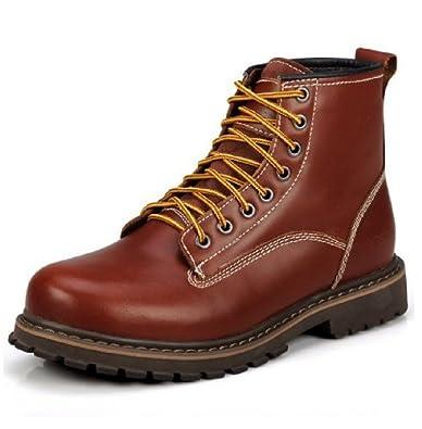 Serene 西瑞 秋冬新款 男保暖军靴英伦时尚男鞋舒适皮鞋男时装工鞋马丁靴