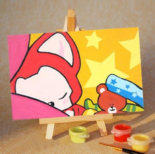 自油自画 diy手绘数字油画特价 七夕情人节礼物多款任选儿童画 愤怒的