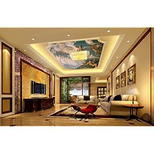 欧式大型油画酒店吊顶天花板