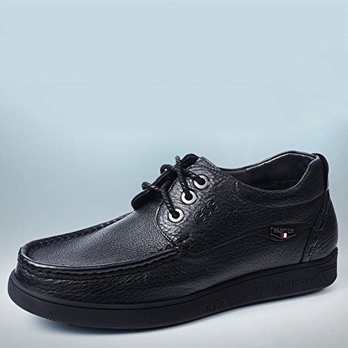 Gog 高哥 增高鞋男式高端商务休闲鞋皮鞋隐形内增高男鞋子6cm秋季