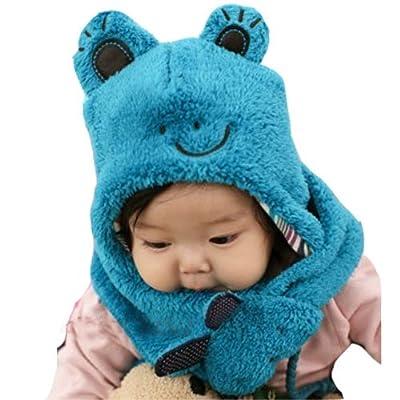 宝宝绒绒线护耳帽织法图解