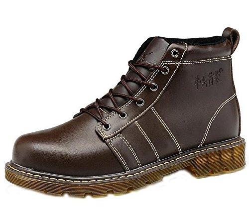 Unbeaten 时尚超酷美国大兵陆战队战靴 耐磨透明牛筋底 马丁靴 军靴 高帮靴 真皮 骑士靴 时装靴 男靴