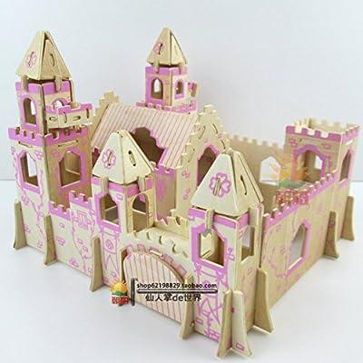 diy小屋组装手工制作别墅模型玩具