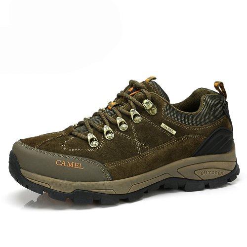 Camel 骆驼 户外鞋 真皮反绒牛皮 时尚自然 户外运动休闲鞋 经典登山鞋 防滑耐磨 徒步鞋  82330602