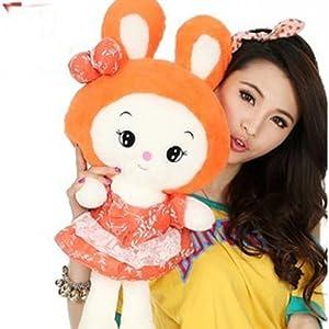 毛绒玩具可爱抱枕小白兔公仔love兔子大号布娃娃布偶