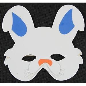 快乐派对 六一儿童卡通面具 海绵eva动物面具 小白兔维尼灰太狼喜洋洋