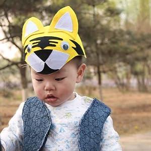 卡通 六一儿童节 动物帽子 老虎帽子
