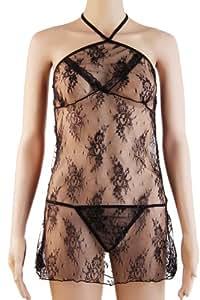 NightFire夜火情趣内衣套装性感网眼纱裙透明紧身网纱塑身古典花纹透视2354