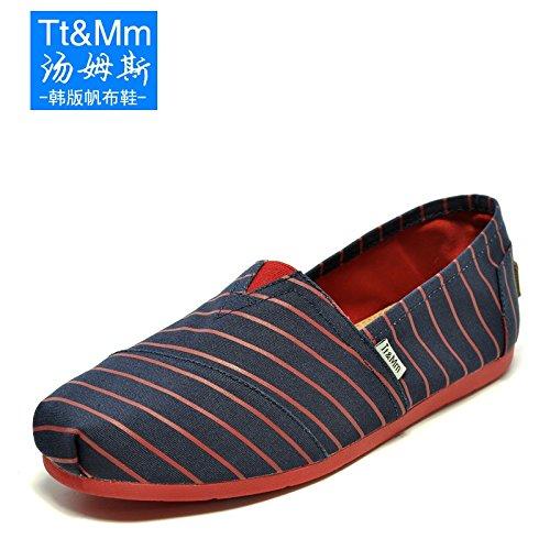 Tt&Mm 汤姆斯 春夏季新款透气帆布鞋男休闲鞋男鞋 潮流时尚懒人鞋11030M