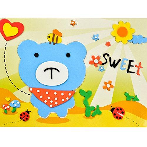 孩派eva贴画儿童手工制作 儿童益智玩具diy幼儿园手工 韩版贴纸 (蓝色