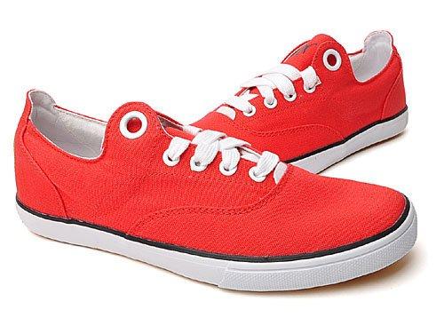 PUMA 彪马 怀旧系列简洁纯色不对称布面舒适轻便休闲帆布鞋 男 帆布鞋 35149705 red