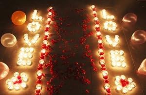 浪漫 套餐 心形蜡烛玫瑰套装图片