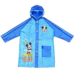迪士尼儿童雨衣小学生米奇卡通雨披带书包位男女款