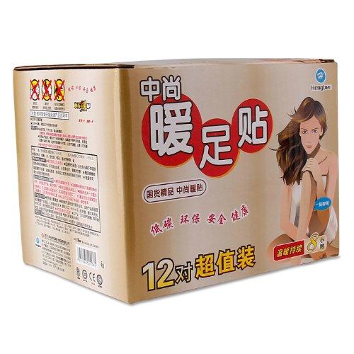 中尚日化 ZS-805 暖足贴12对(暖足贴暖贴宝宝贴 暖贴)2盒装(特)