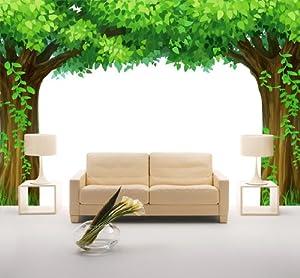 墙壁大树手工制作图片