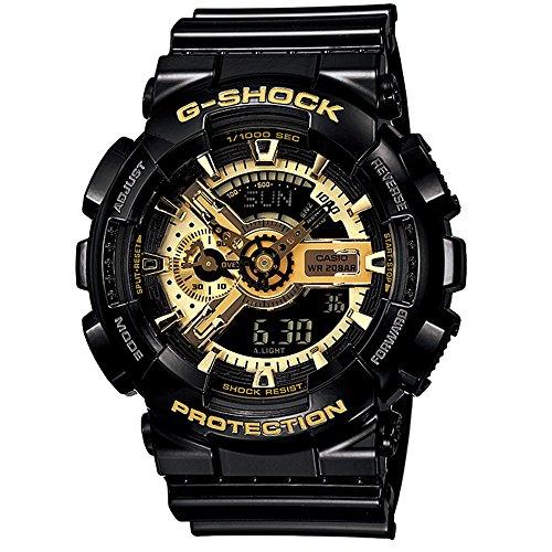 CASIO 卡西欧 G-SHOCK 双显户外运动手表防水防震防磁男表 GA-110GB-1APR