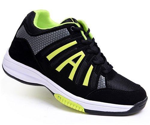 高哥内增高鞋 新款1472男式增高8cm黑色系带运动休闲男鞋