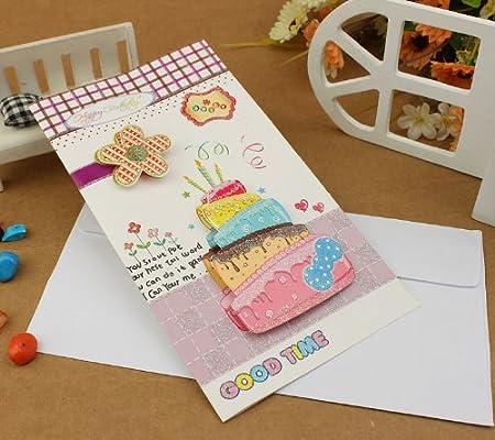 亿梦 创意商务贺卡立体贺卡韩版生日贺卡个性生日卡片