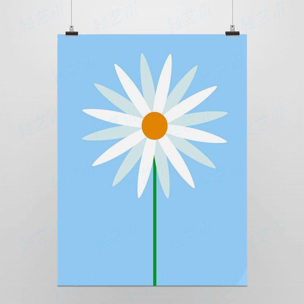 light art 轻艺术 自然萌物 太阳花 北欧田园小清新花卉图片海报定制