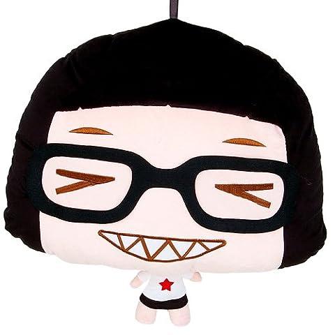 网络红人 hello菜菜鬼脸表情靠垫抱枕图片