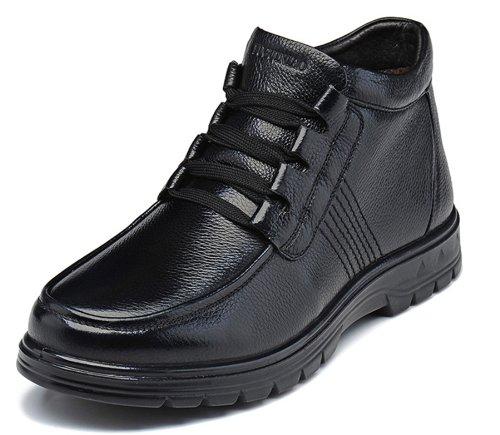FGN 富贵鸟 冬季新款 正品真皮牛皮 男短靴 商务休闲保暖真皮靴子