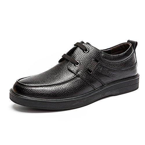 木林森 MULINSEN 男鞋皮鞋真皮商务休闲鞋男士系带潮流单鞋