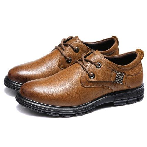 富贵鸟 系带商务休闲鞋 时尚正装鞋 百搭经典皮鞋 真皮工装鞋 英伦户外男鞋