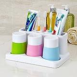 欣兰雅舍 三口之家卫浴牙刷架洗漱套装-图片