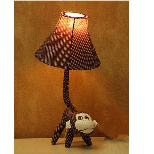 装饰台灯 卧室桌面小夜灯创意 动物布艺落地灯 创意家居装饰灯 卡通图片