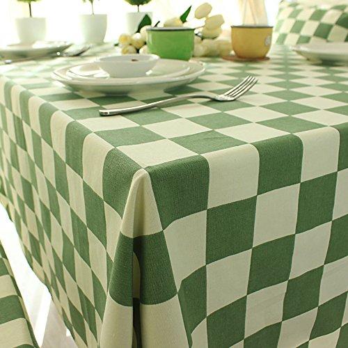 布艺欧式绿色蓝色田园风格子台布餐桌布茶几布加厚海绵椅垫抱枕含芯