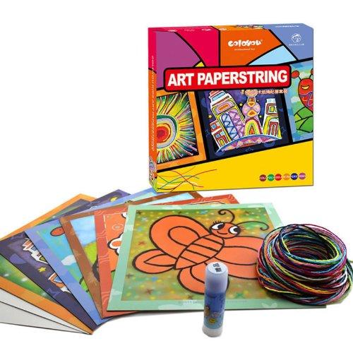手工制作儿童早教 diy 玩; [卡乐优]儿童艺术纸绳贴画套装 手工制作