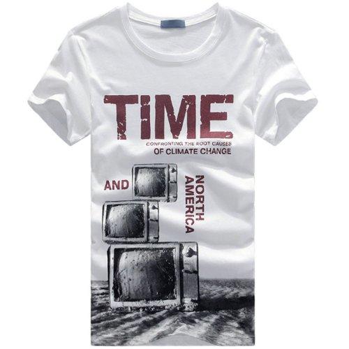 gusskater 2014夏季新款 男士潮流短袖T恤纯棉圆领t恤 1511-328