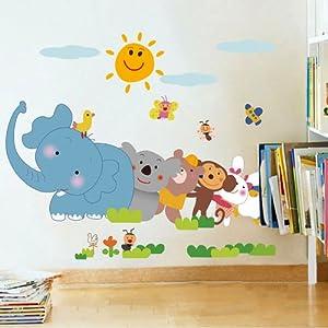 御用家喜 儿童房卡通教室布置幼儿园益智教育可移除墙