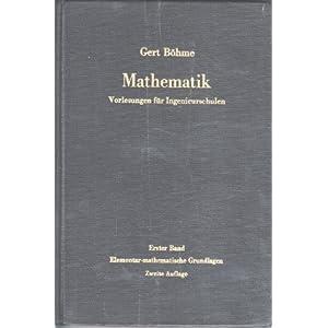 mathematik. vorlesungen fa1/4r ingenieurschulen