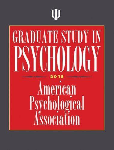 Graduate Study in Psychology 2015