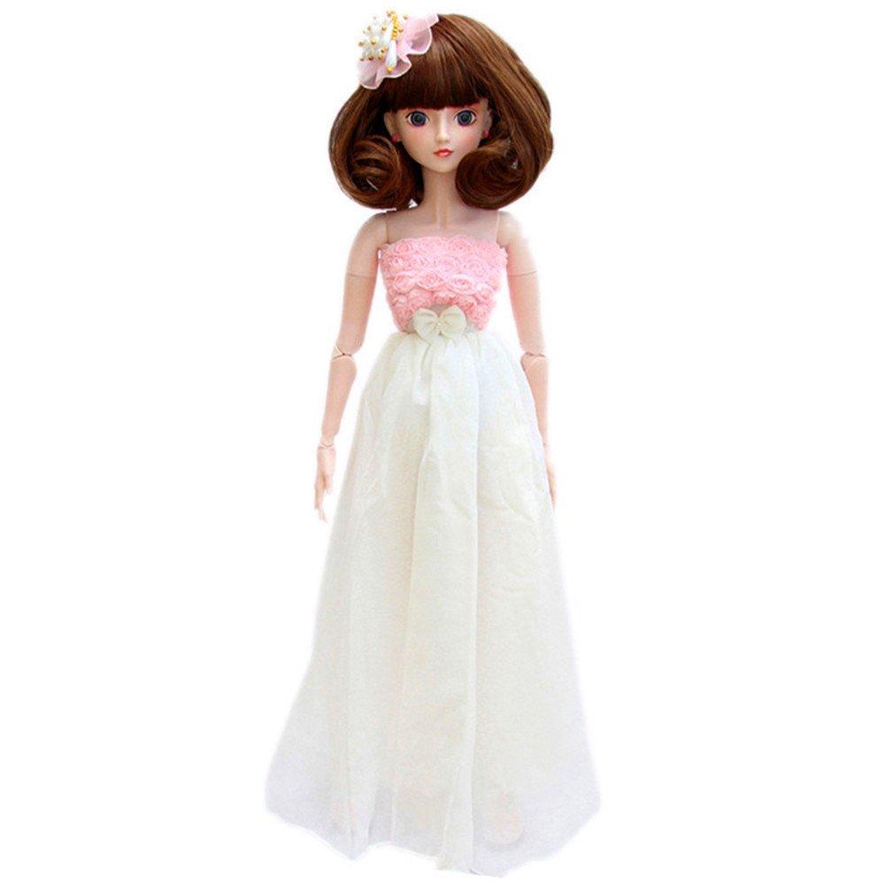 艾萌 精灵梦叶罗丽仙子娃娃芭比娃娃套装玩具 公主系列 (60cm, 简单爱图片