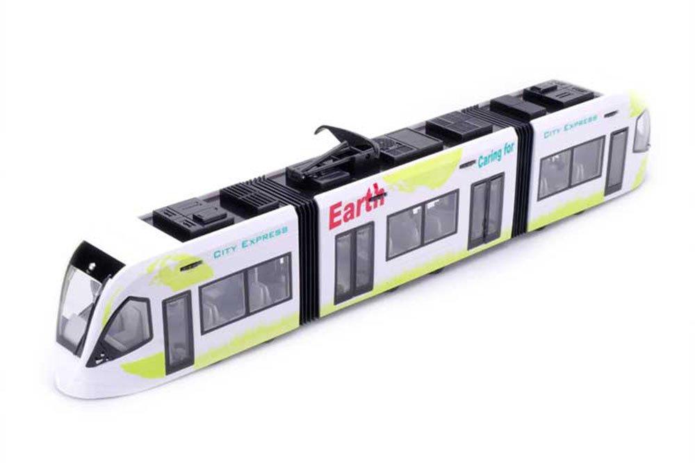俊基 德国有轨电车火车地铁合金玩具模型儿童玩具收藏