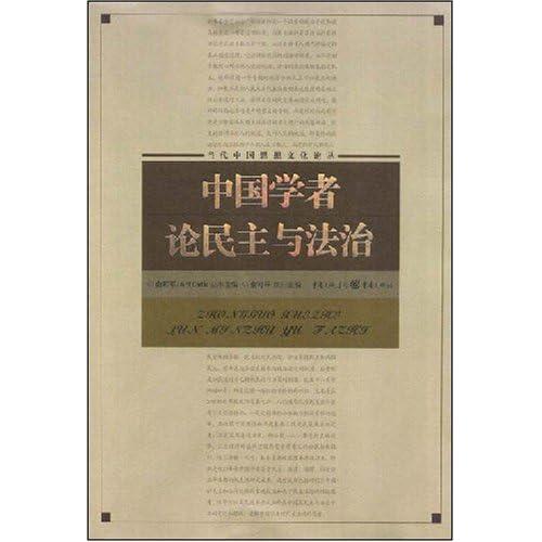 中国学者论民主与法治(当代中国思想文化论丛)