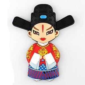 西府 京剧脸谱冰箱贴中国风人物特色工艺品外事出国礼品