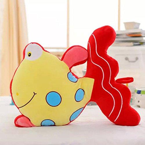 好马 金鱼公仔抱枕可爱小鱼毛绒玩具结婚创意布娃娃靠垫生日情人节