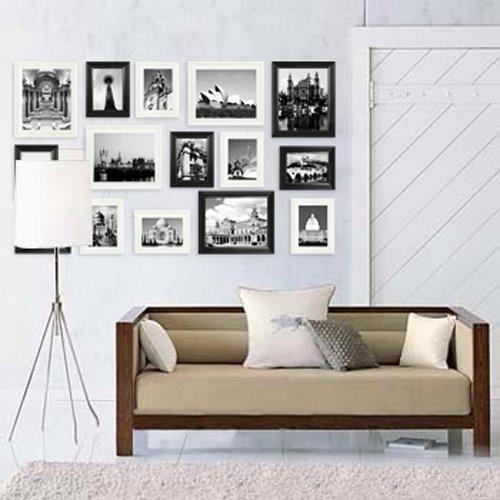 雅视15相框外单实木照片墙组合--黑白混搭15b-3