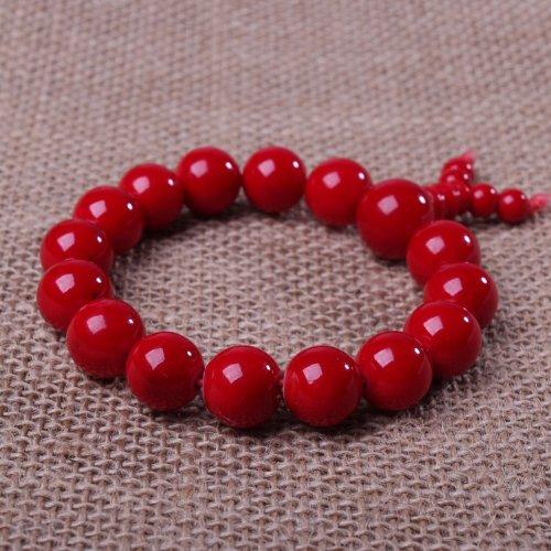 晶隆福 天然红石手链 色泽妖娆 彰显气质 款式时尚12.3mm【103207】-图片