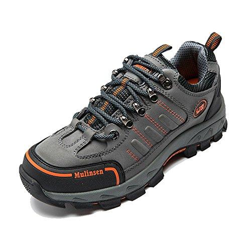 木林森 徒步登山鞋 真牛皮户外鞋防滑系带运动鞋正品
