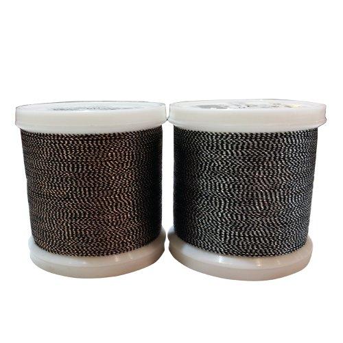 德国madeira 9842系列 金葱缝纫绣线 拼布压线 沉稳黑檀+沉稳黑珍珠-图片