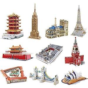 3D立体拼图 DIY 木质 拼装模型 国外 著名 建筑 M